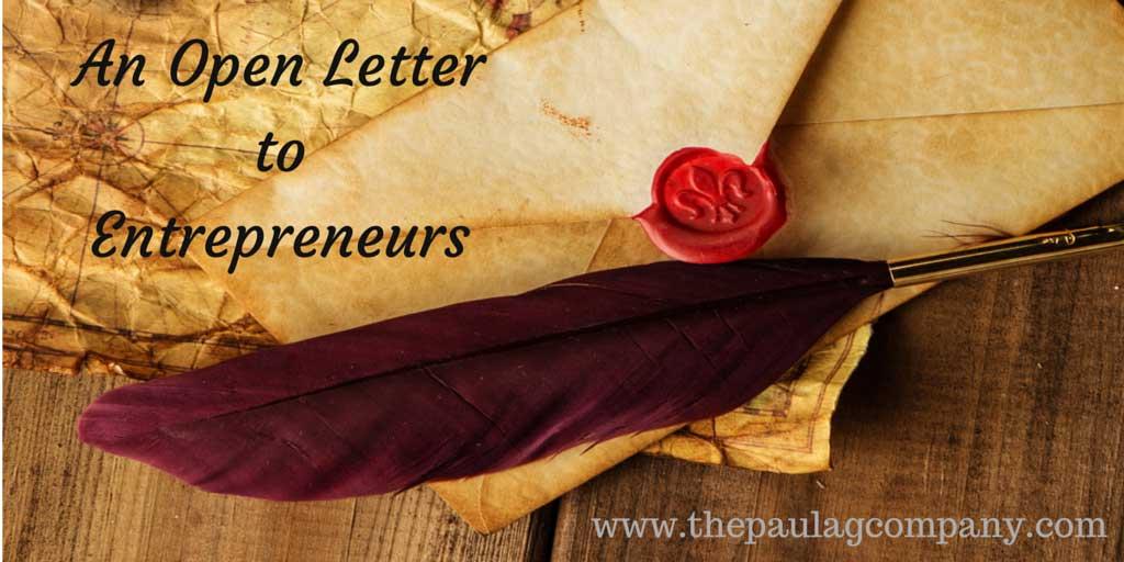 An Open Letter to Entrepreneurs